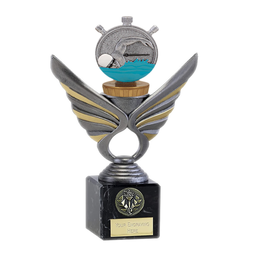 21cm Swimming Figure On Pegasus Award