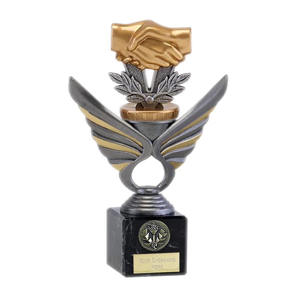21cm Handshake Figure on Pegasus Award