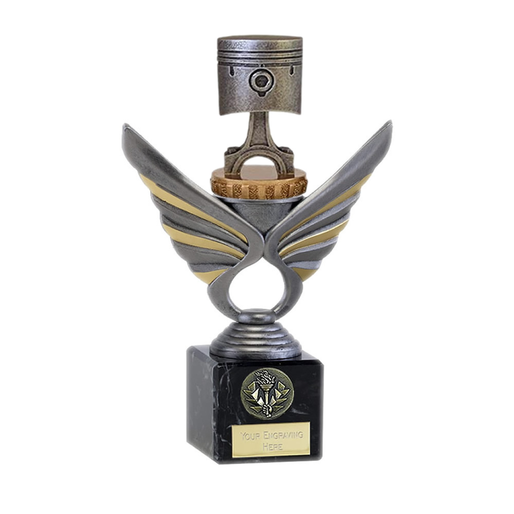 21cm Piston Figure On Motorsports Pegasus Award