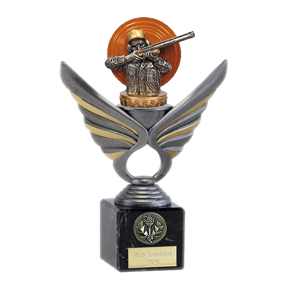 21cm Clay Shooting Figure On Pegasus Award