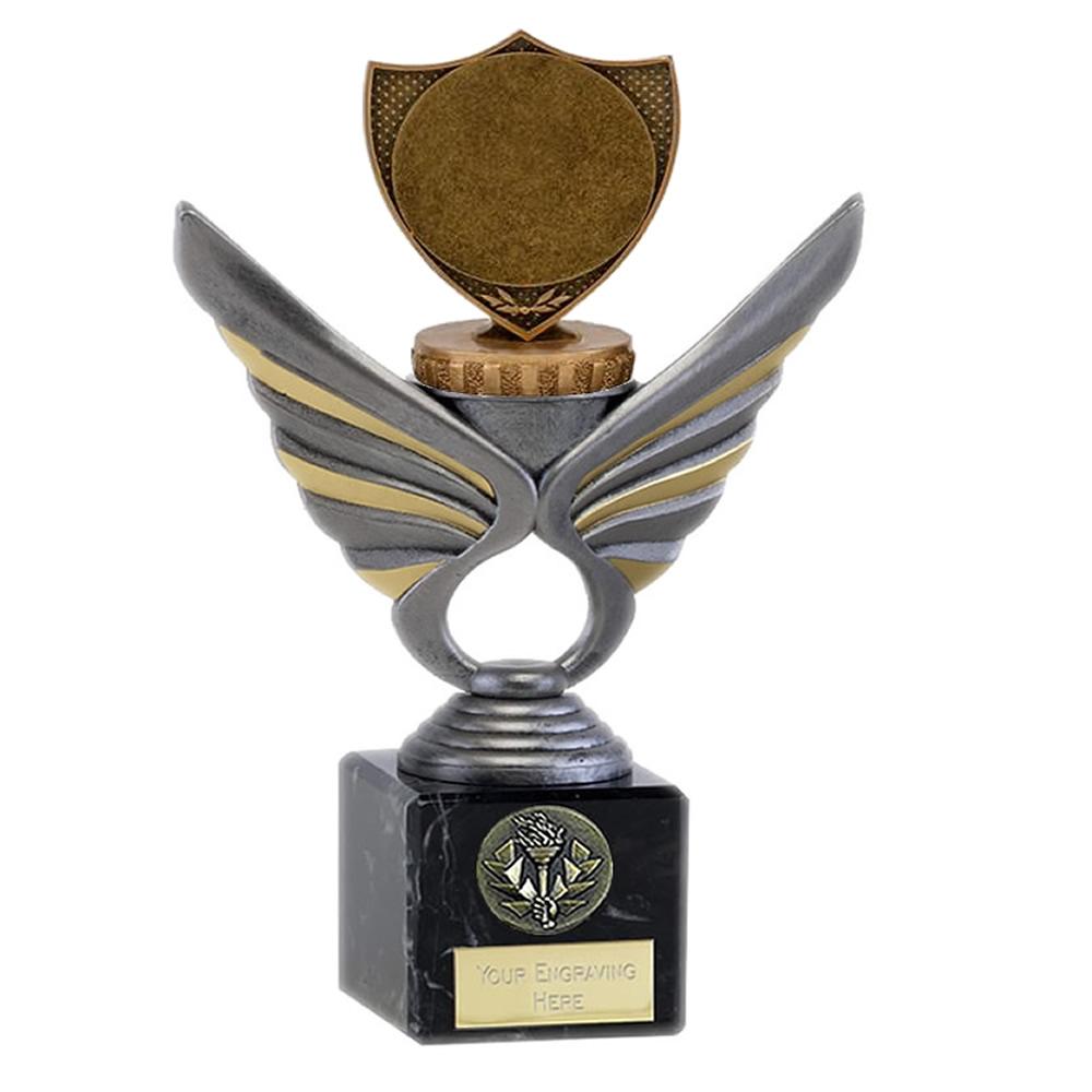 "21cm Shield with 2"" Centre Figure on Pegasus Award"