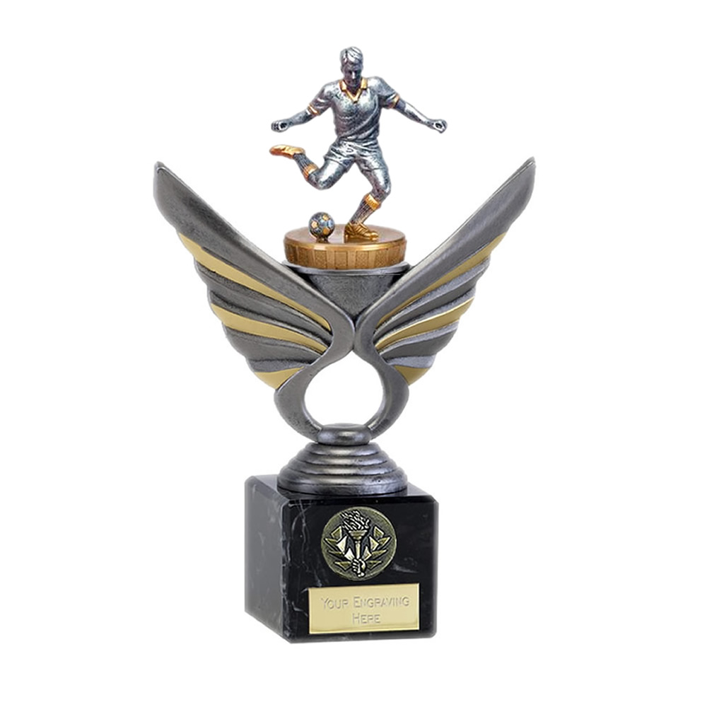 21cm Footballer Male Figure On Pegasus Award