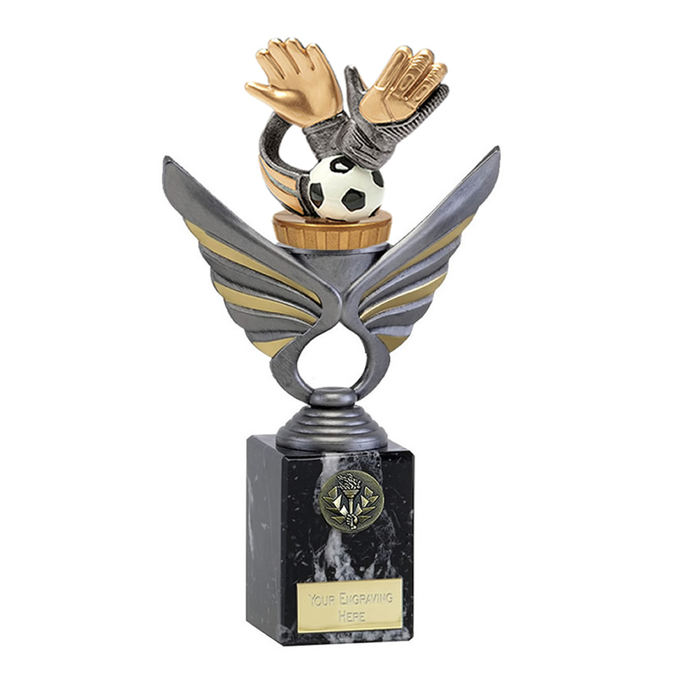 24cm Keeper Glove Figure On Football Pegasus Award