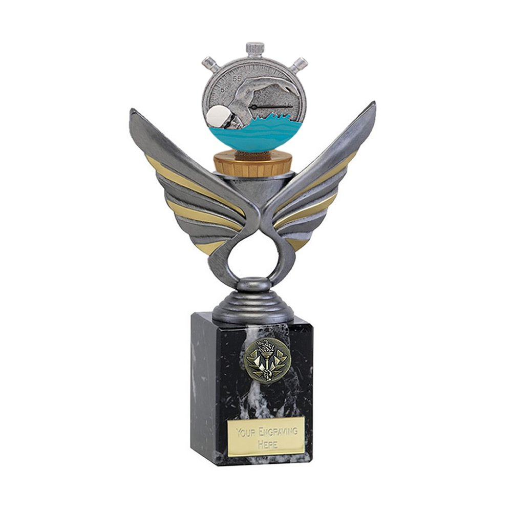 24cm Swimming Figure On Pegasus Award