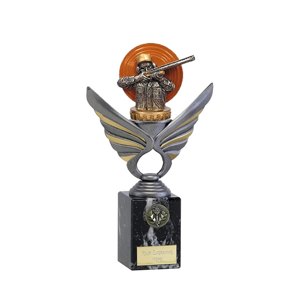 24cm Clay Shooting Figure on Shooting Pegasus Award