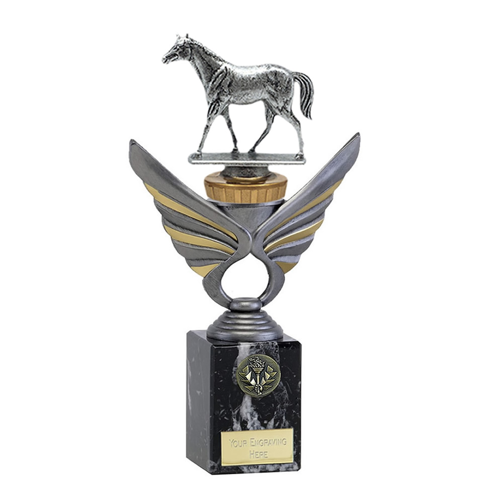 24cm Quarter Horse Figure on Horse Riding Pegasus Award