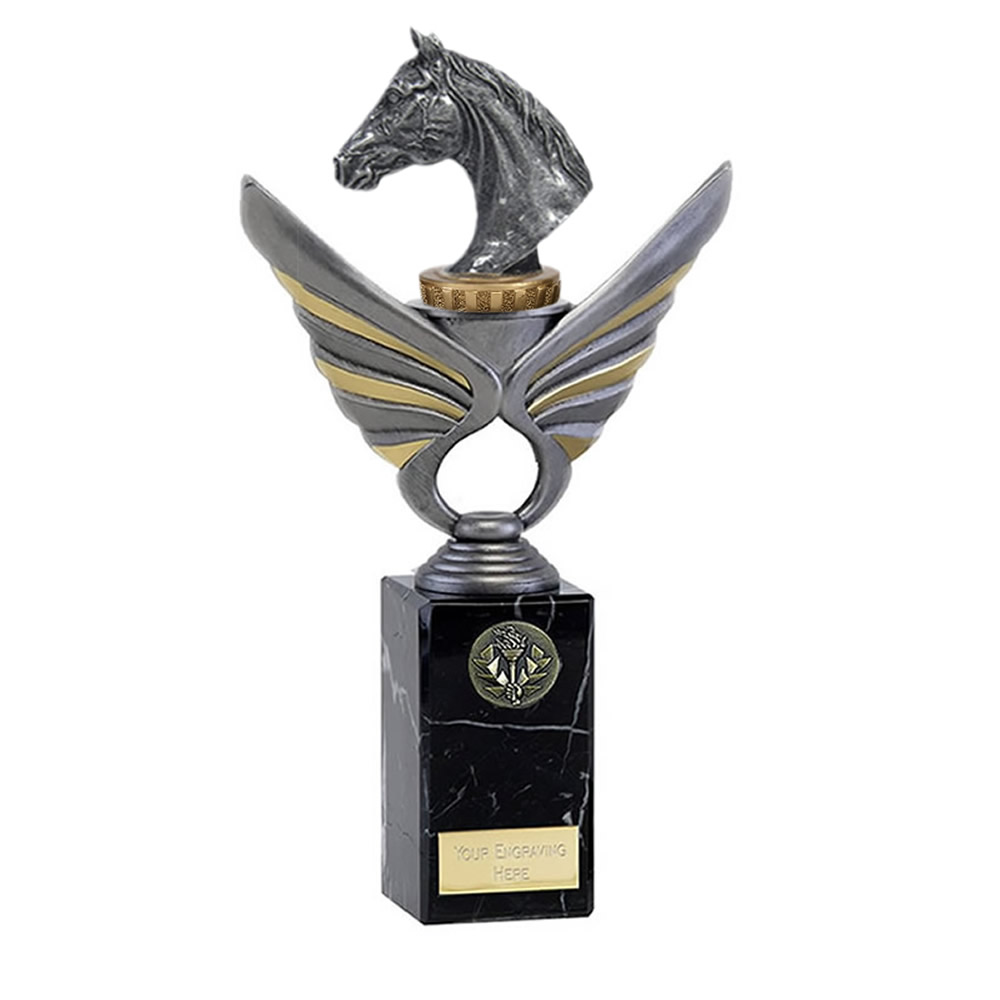 26cm Horse Head Figure On Horse Riding Pegasus Award