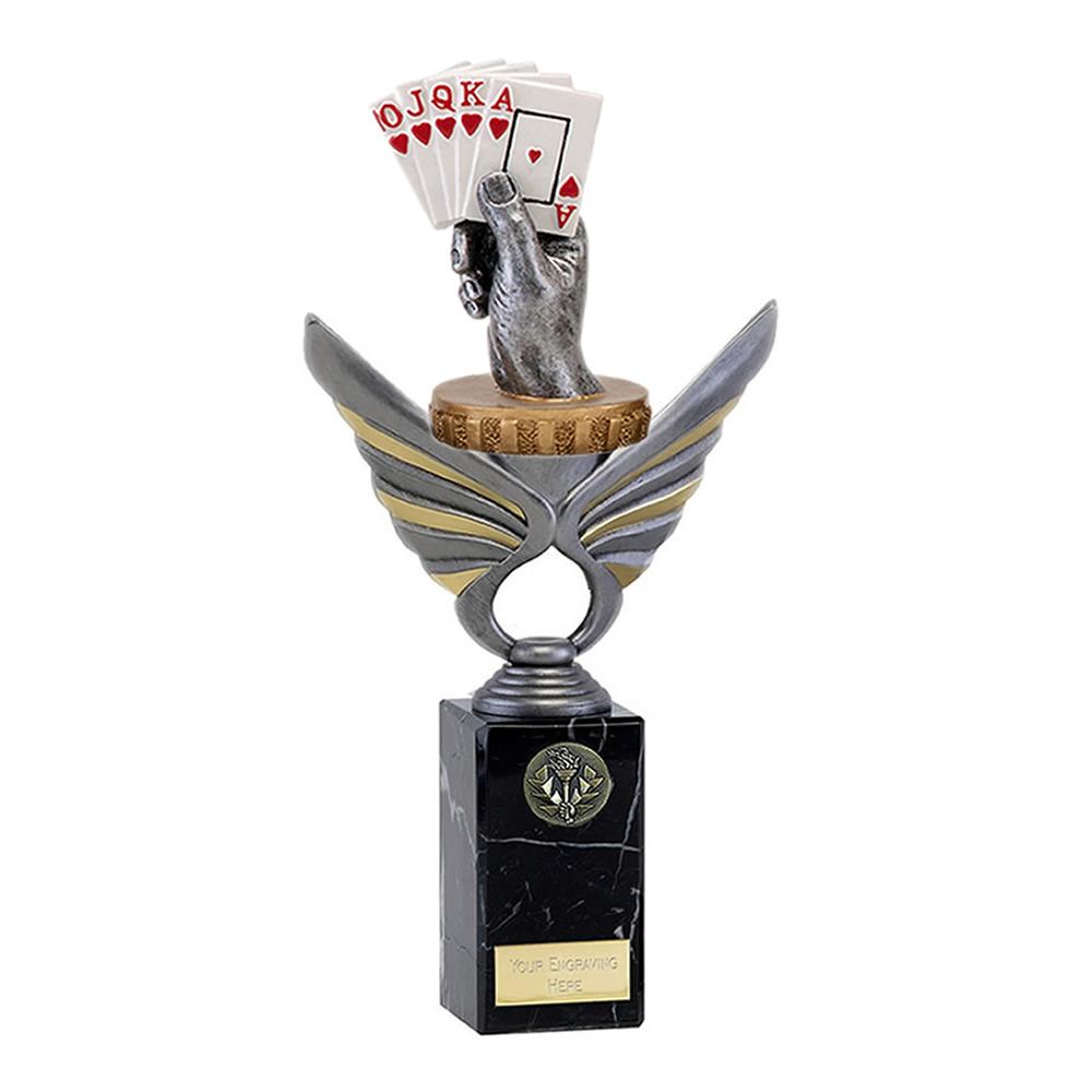 26cm Playing Cards Figure On Pegasus Award