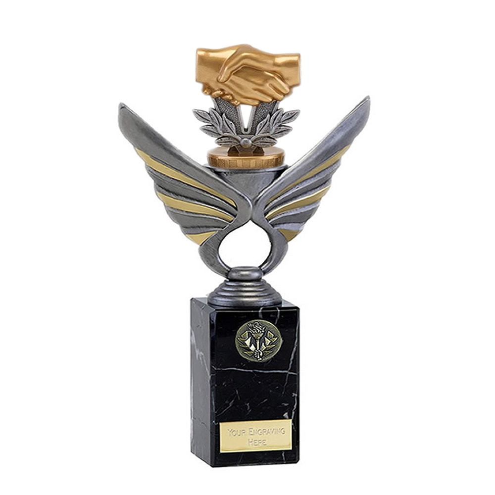 26cm Handshake Figure on Pegasus Award
