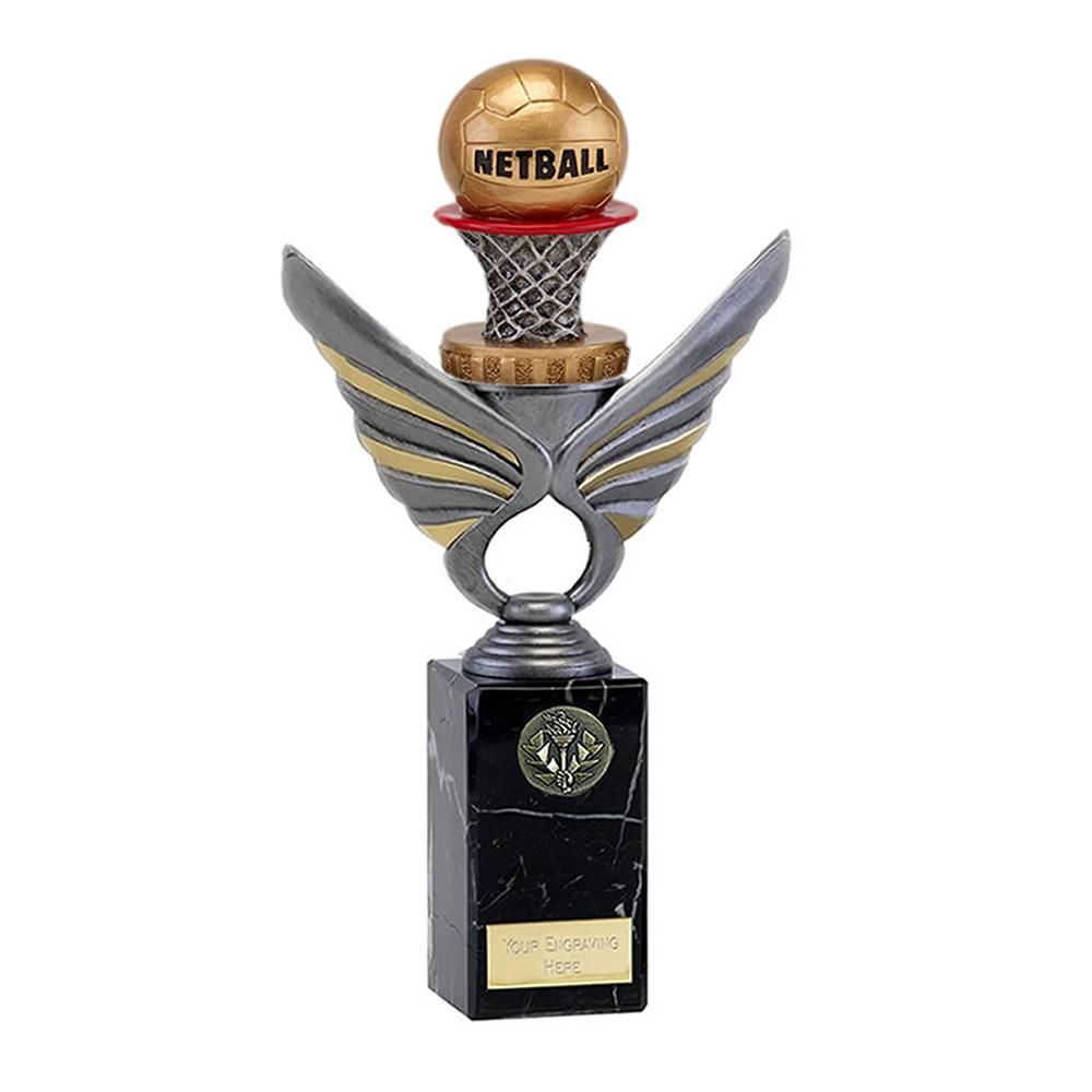 26cm Netball Figure on Pegasus Award