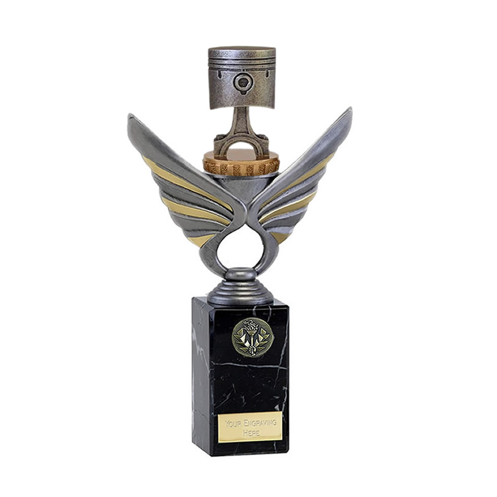 26cm Piston Figure On Motorsports Pegasus Award