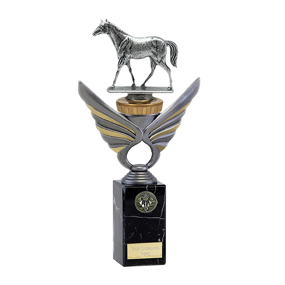 26cm Quarter Horse Figure on Horse Riding Pegasus Award