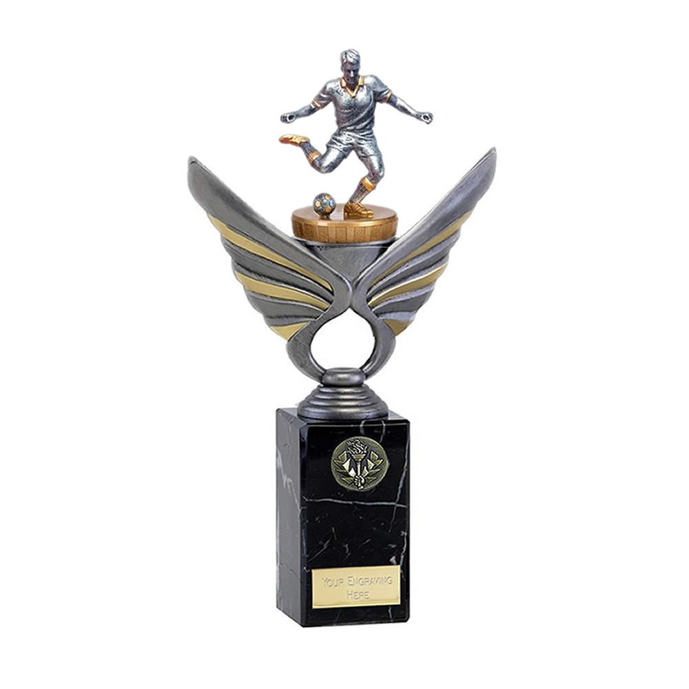 26cm Footballer Male Figure on Football Pegasus Award