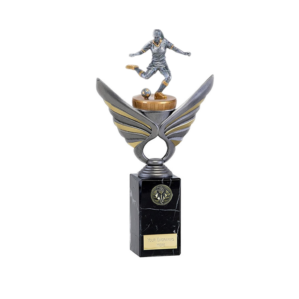 26cm Footballer Female Figure on Football Pegasus Award