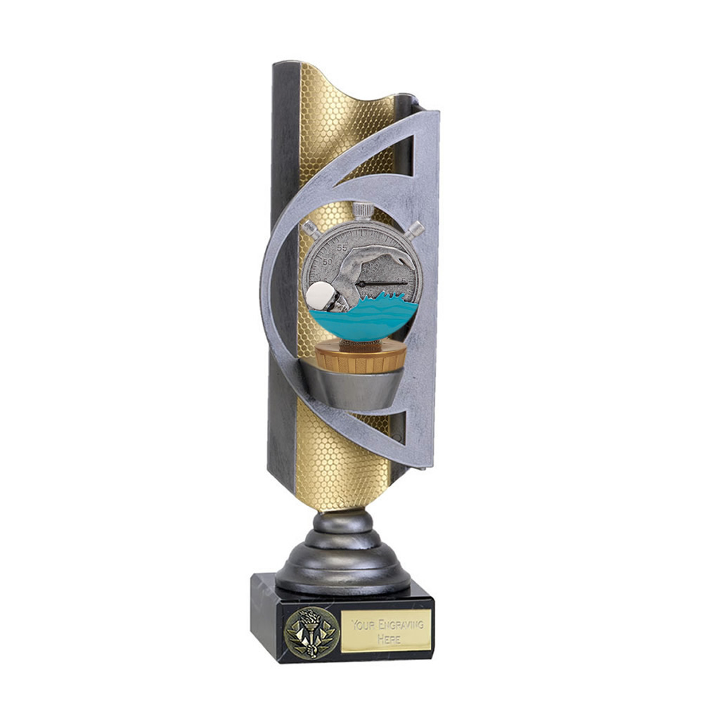28cm Swimming Figure On Infinity Award