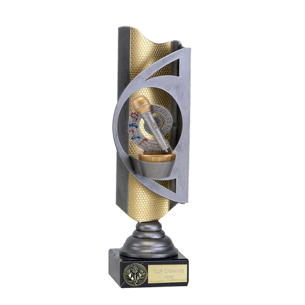 32cm Microphone Place Figure On Music Infinity Award