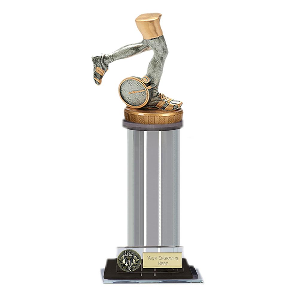 22cm Running Neutral Figure on Running Trafalgar Award