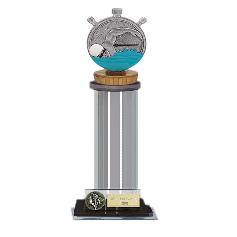 22cm Swimming Figure on Swimming Trafalgar Award