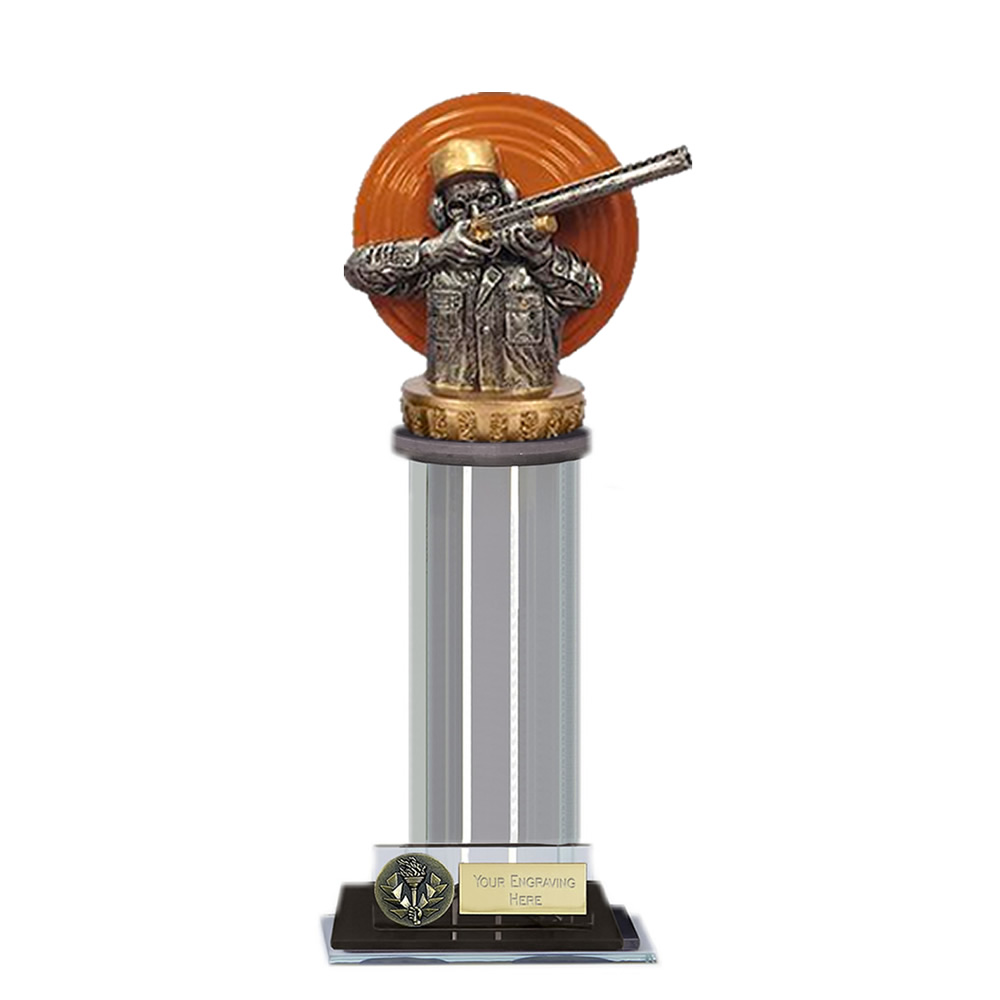 22cm Clay Shooting Figure on Shooting Trafalgar Award