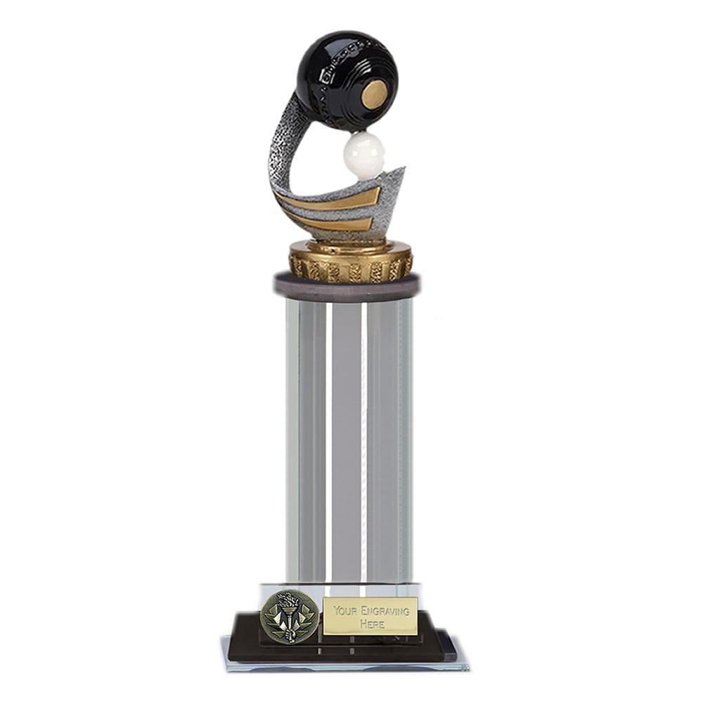 10 Inch Lawn Bowls Figure on Bowling Trafalgar Award