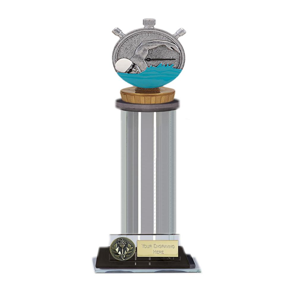10 Inch Swimming Figure on Swimming Trafalgar Award