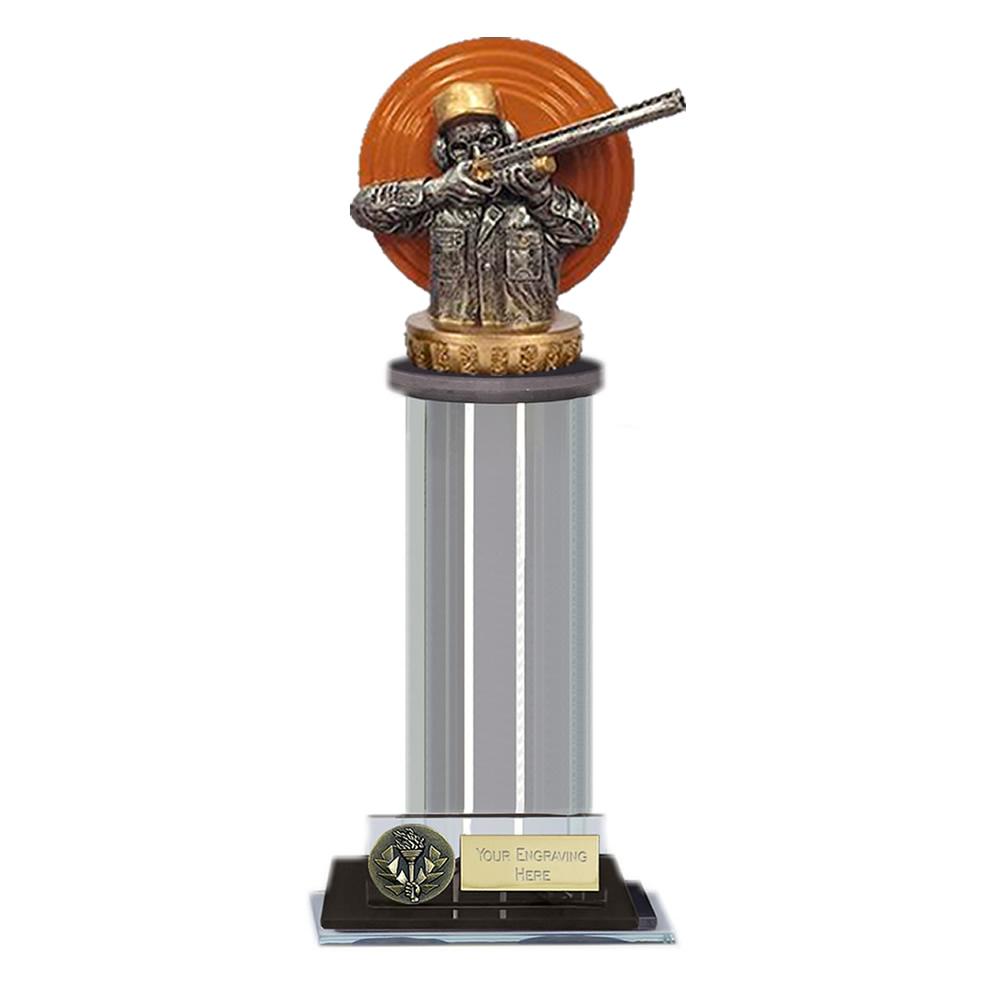 10 Inch Clay Shooting Figure On Trafalgar Award