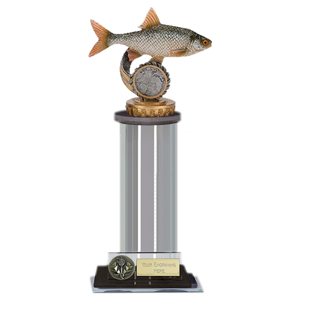10 Inch Fish Roach Figure On Fishing Trafalgar Award