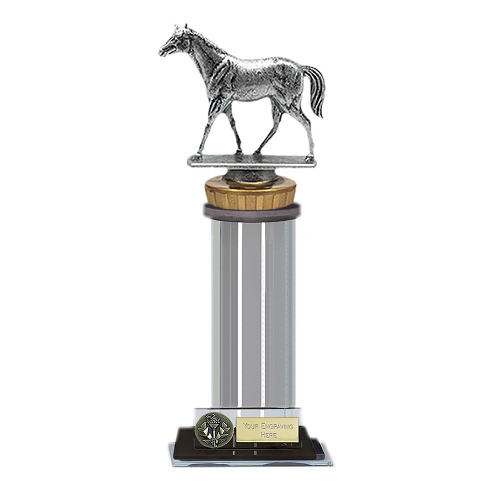 10 Inch Quarter Horse Figure on Horse Riding Trafalgar Award