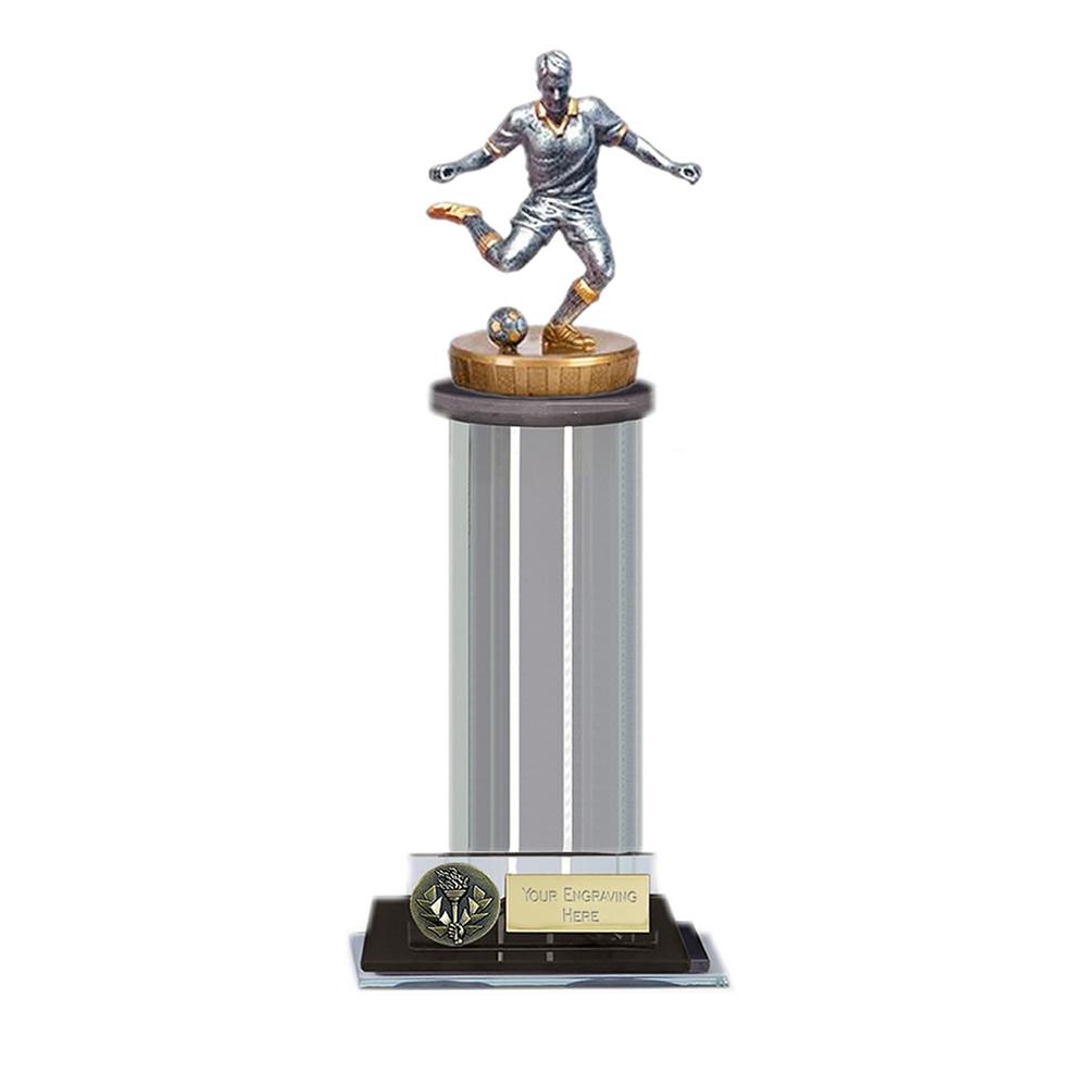 10 Inch Footballer Male Figure on Football Trafalgar Award