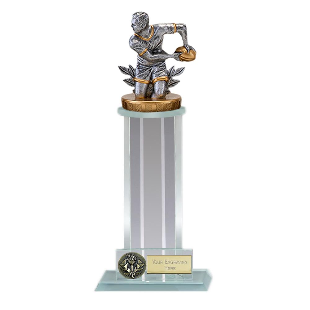 21cm Rugby Figure on Rugby Trafalgar Award
