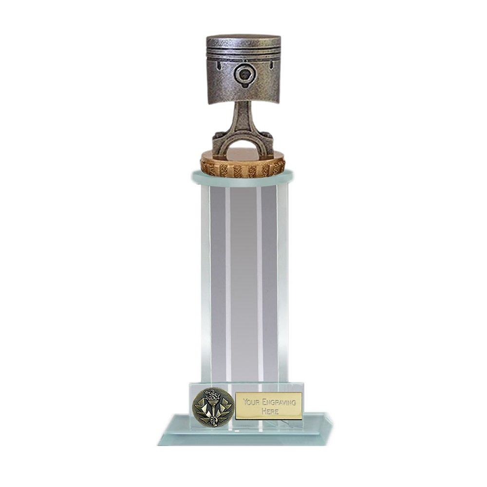 21cm Piston Figure On Motorsports Trafalgar Award