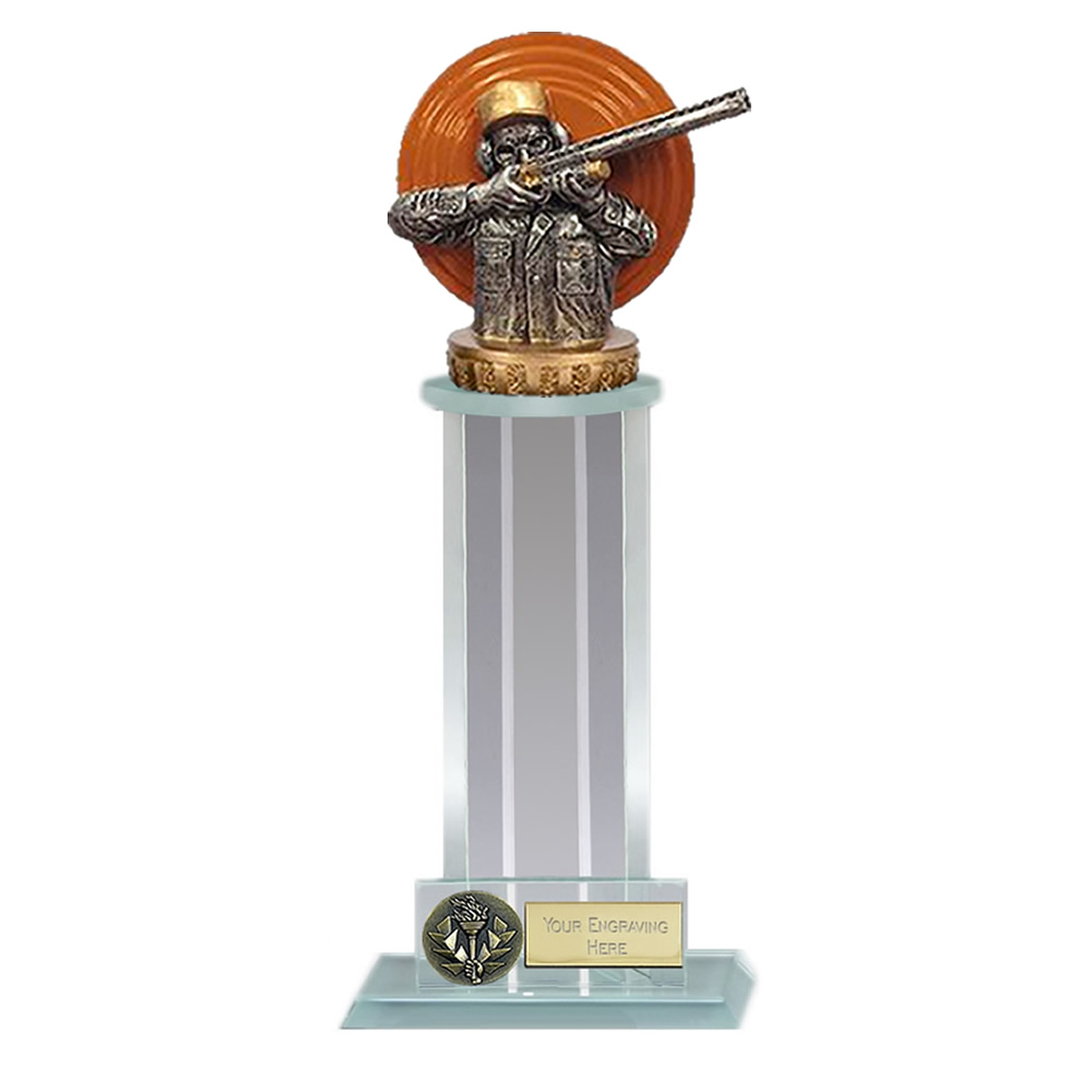 21cm Clay Shooting Figure On Trafalgar Award