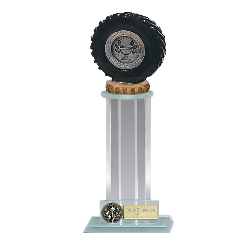 21cm Tractor Tyre Figure On Trafalgar Award
