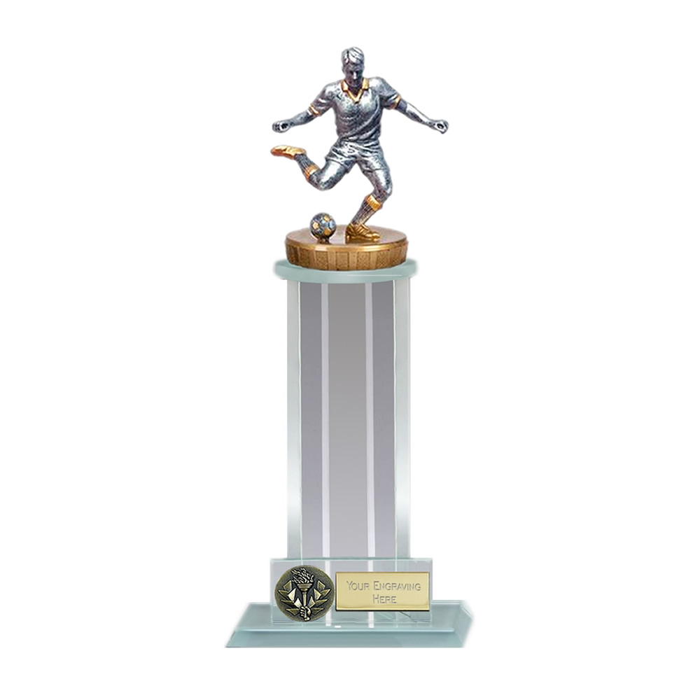21cm Footballer Male Figure On Trafalgar Award
