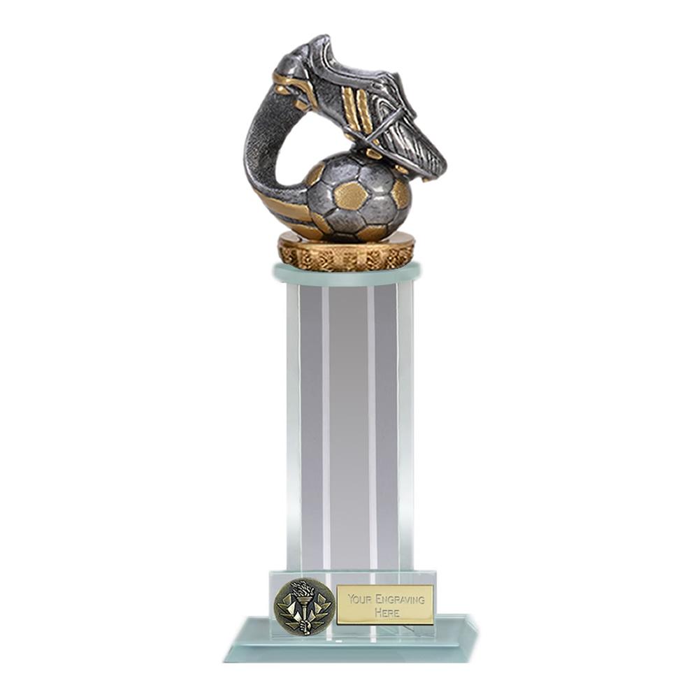10 Inch Boot & Ball Wave Figure on Football Trafalgar Award