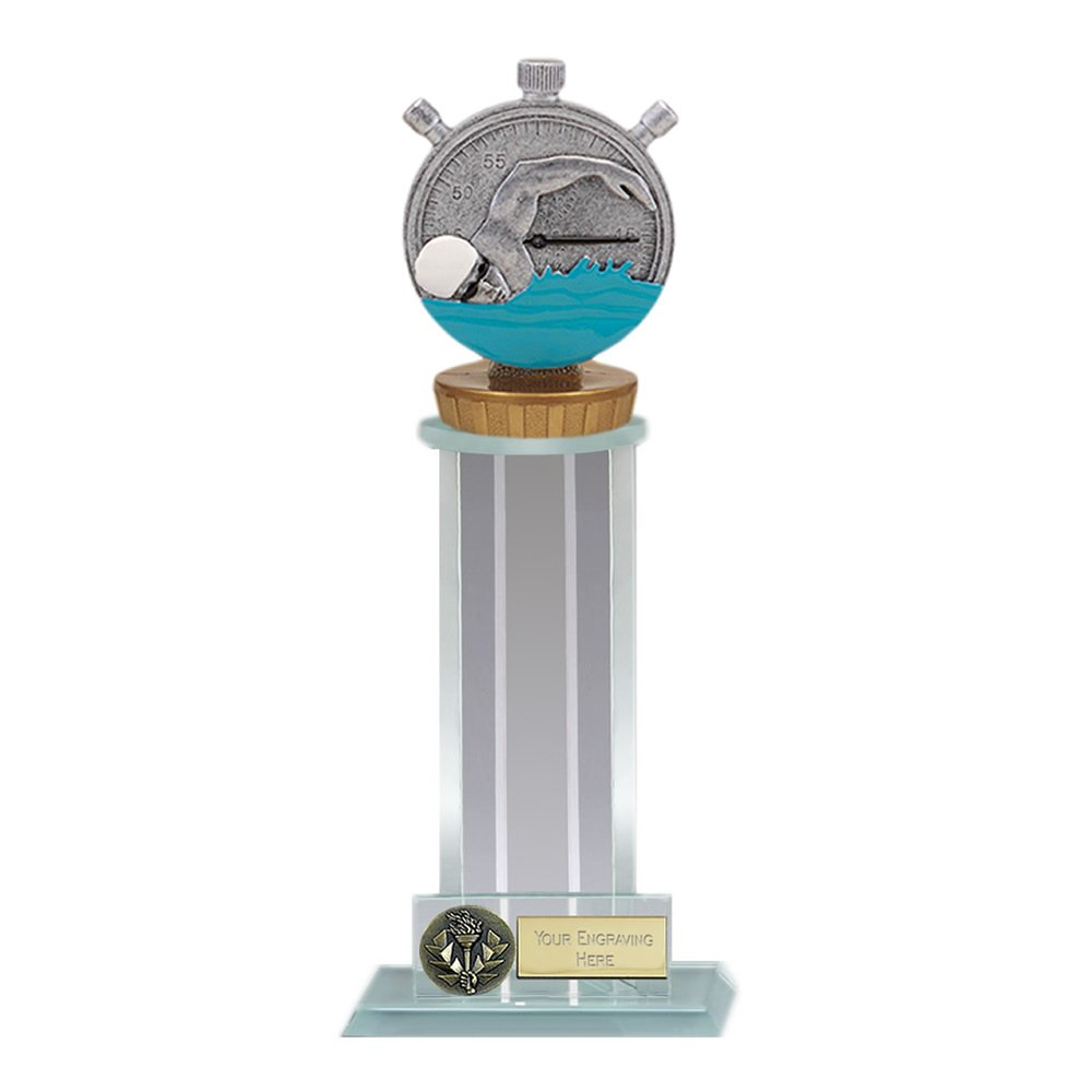 10 Inch Swimming Figure on Swimming Trafalgar Award
