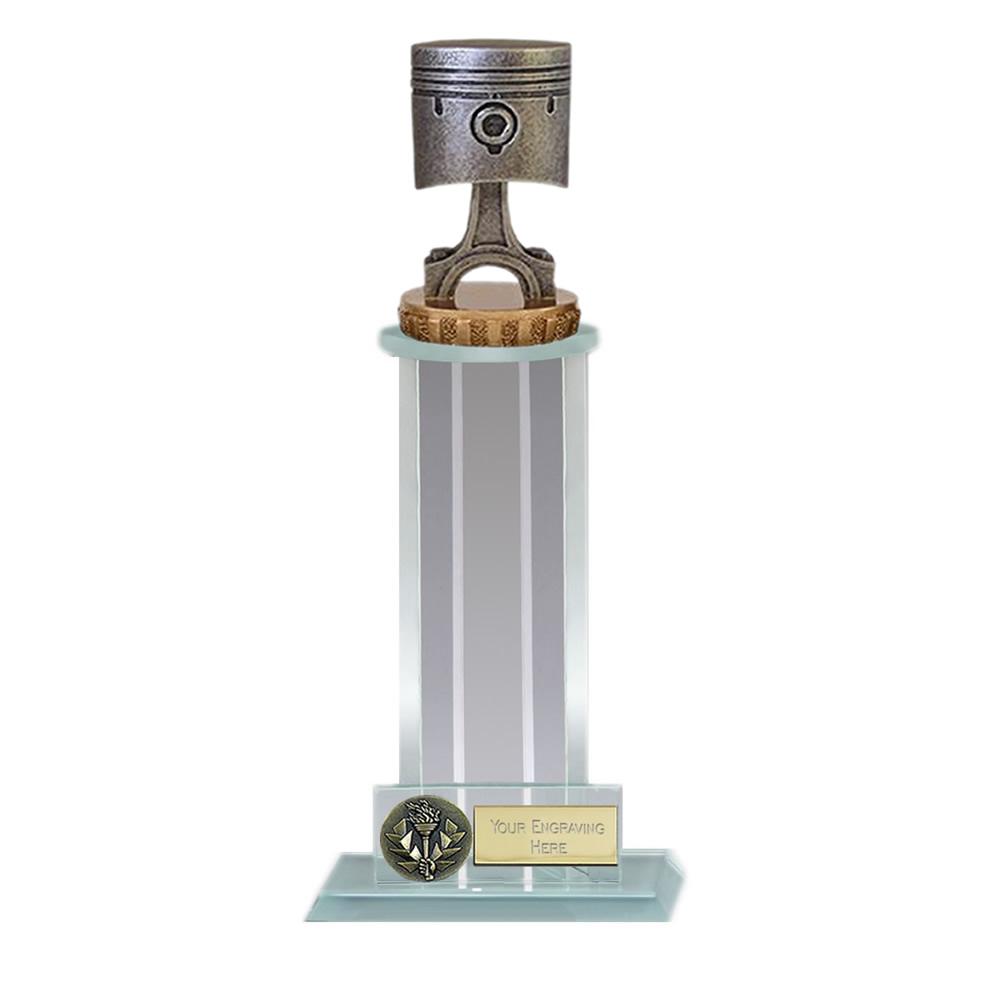 10 Inch Piston Figure On Motorsports Trafalgar Award