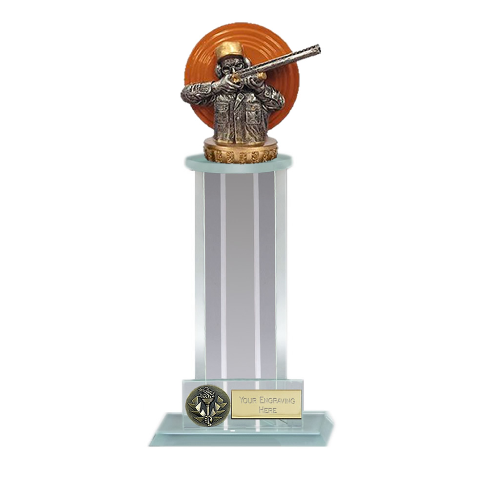 10 Inch Clay Shooting Figure on Shooting Trafalgar Award