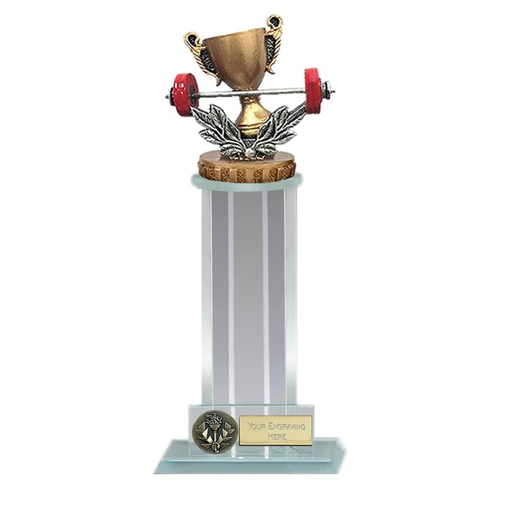 10 Inch Weightlifting Figure On Trafalgar Award