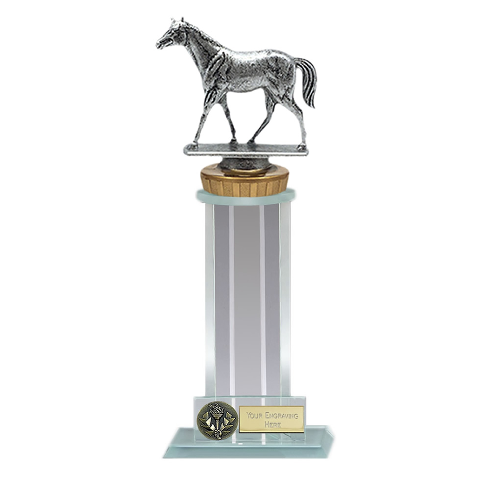 10 Inch Quarter Horse Figure on Horse Riding Trafalgar Award