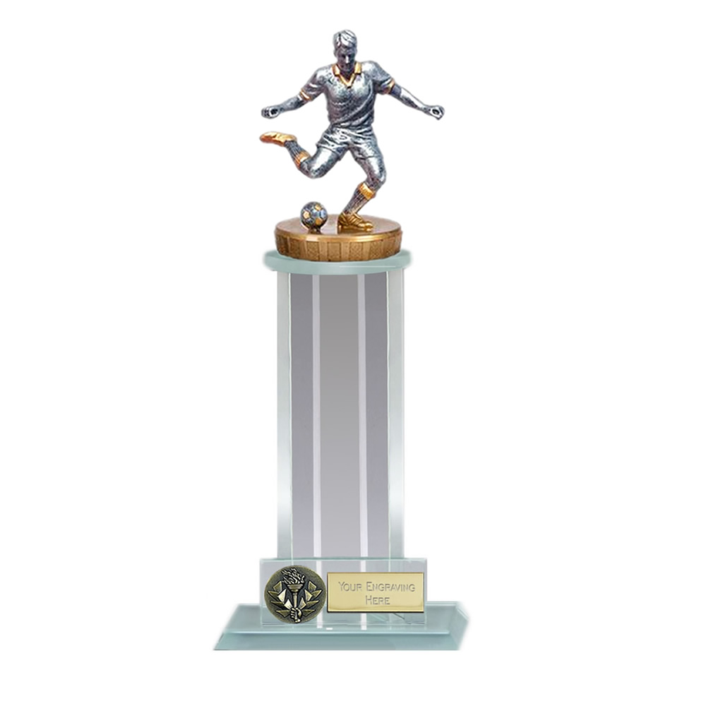10 Inch Footballer Male Figure on Football Trafalgar Award