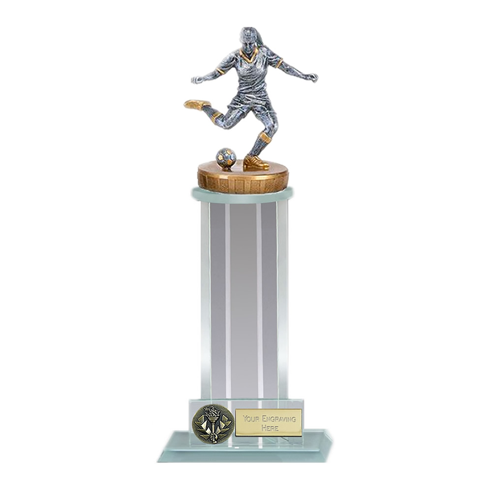 10 Inch Footballer Female Figure On Trafalgar Award
