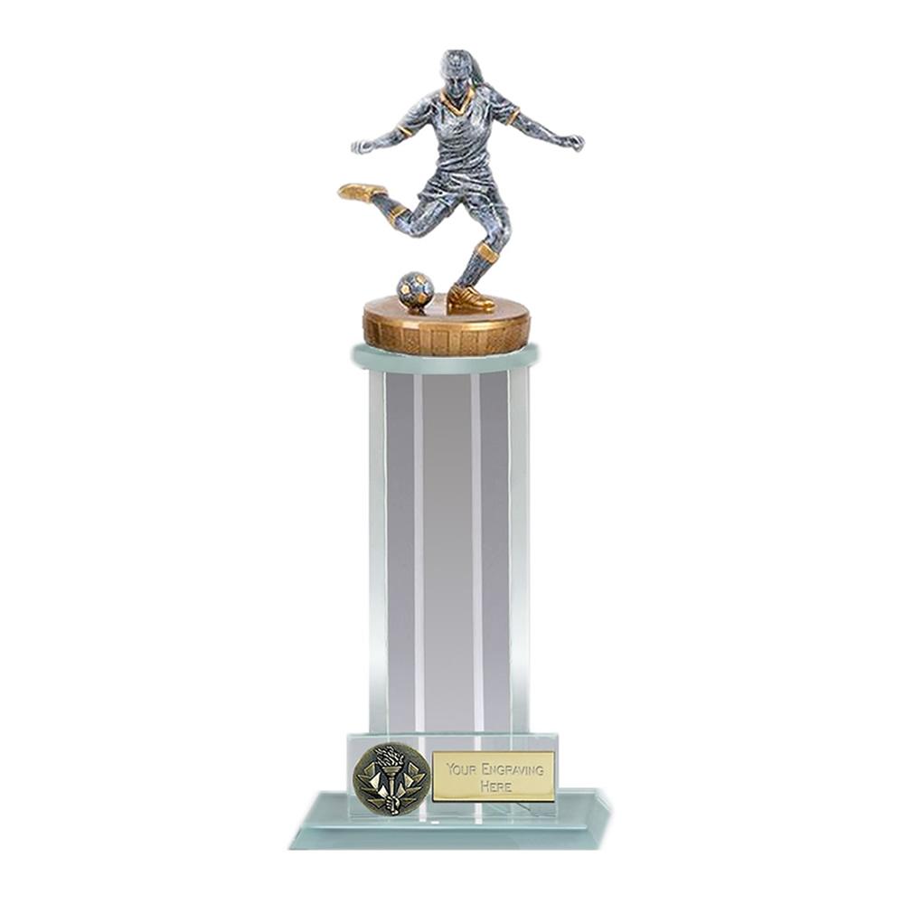 10 Inch Footballer Female Figure on Football Trafalgar Award
