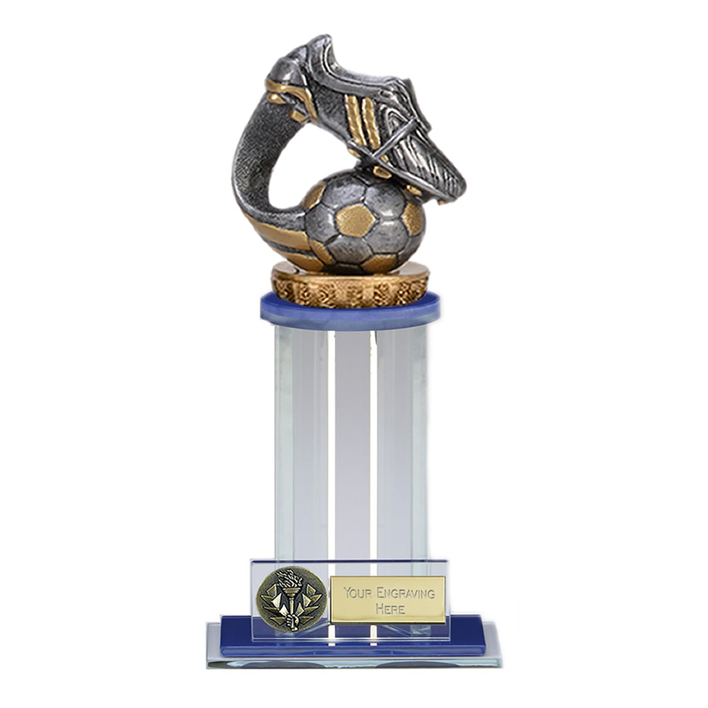 21cm Boot & Ball Wave Figure on Football Trafalgar Award