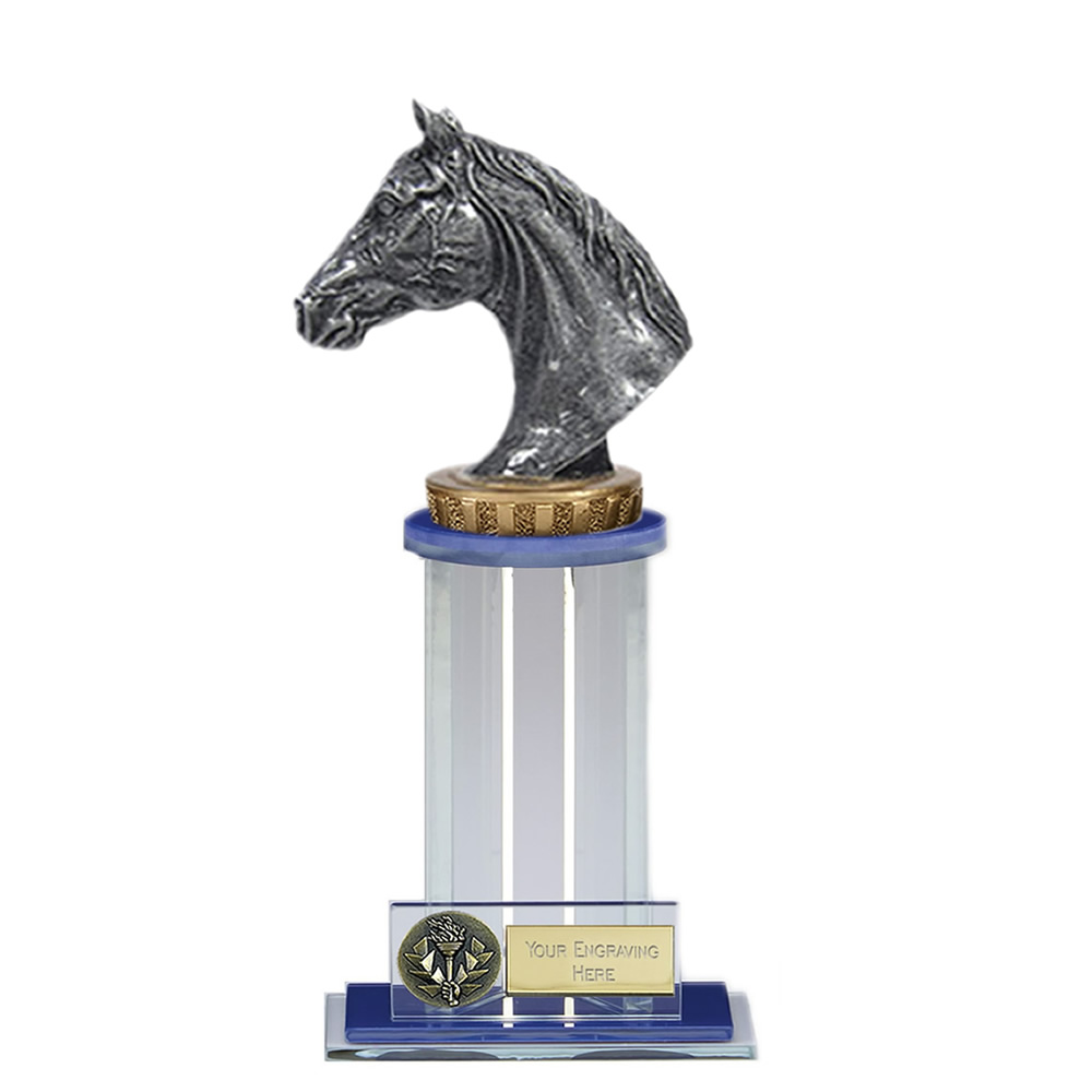 21cm Horse Head Figure on Horse Riding Trafalgar Award