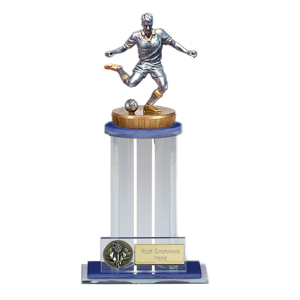 21cm Footballer Male Figure on Football Trafalgar Award
