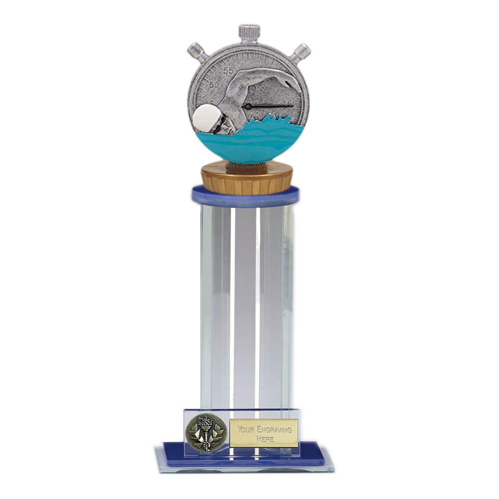 24cm Swimming Figure on Swimming Trafalgar Award