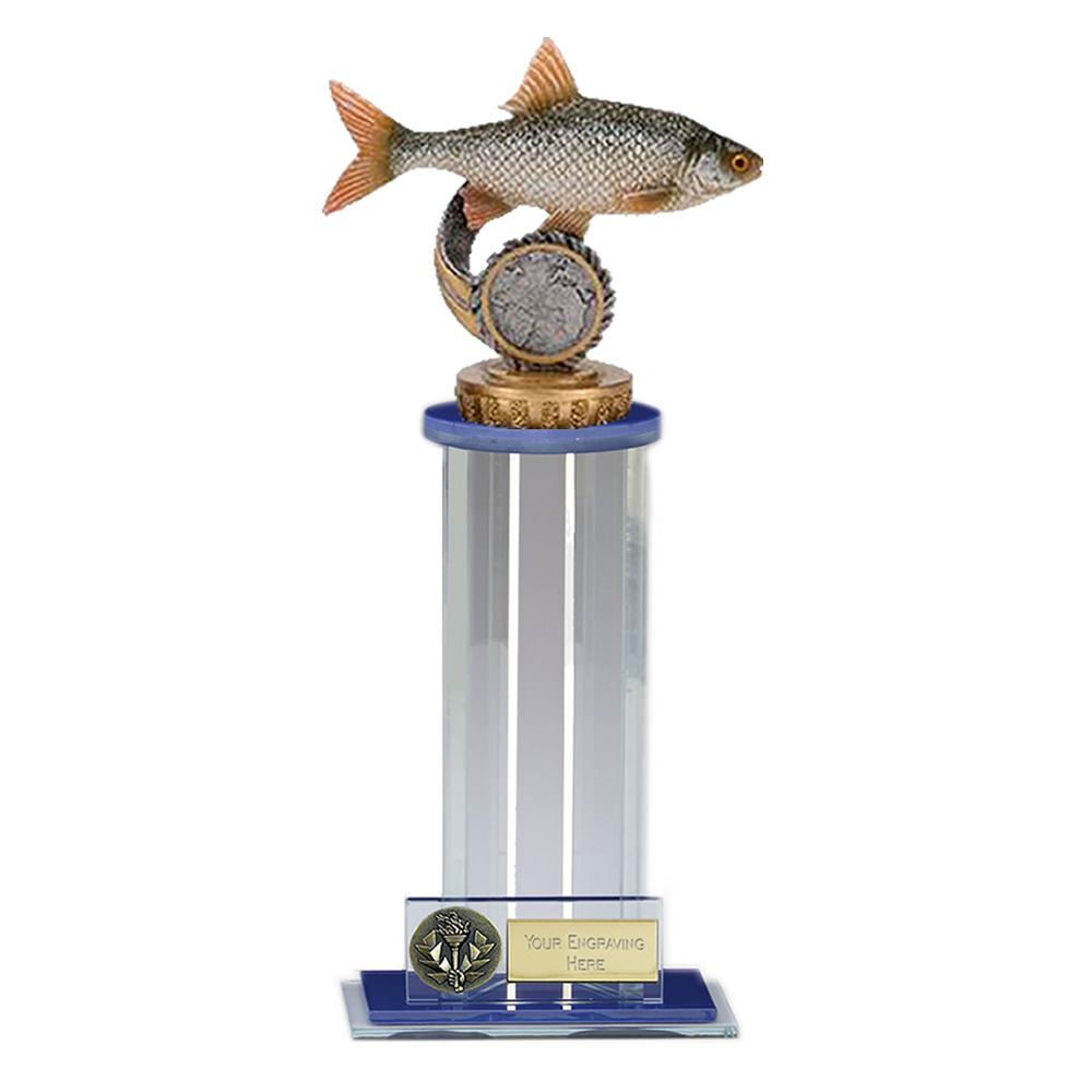 24cm Fish Roach Figure on Fishing Trafalgar Award