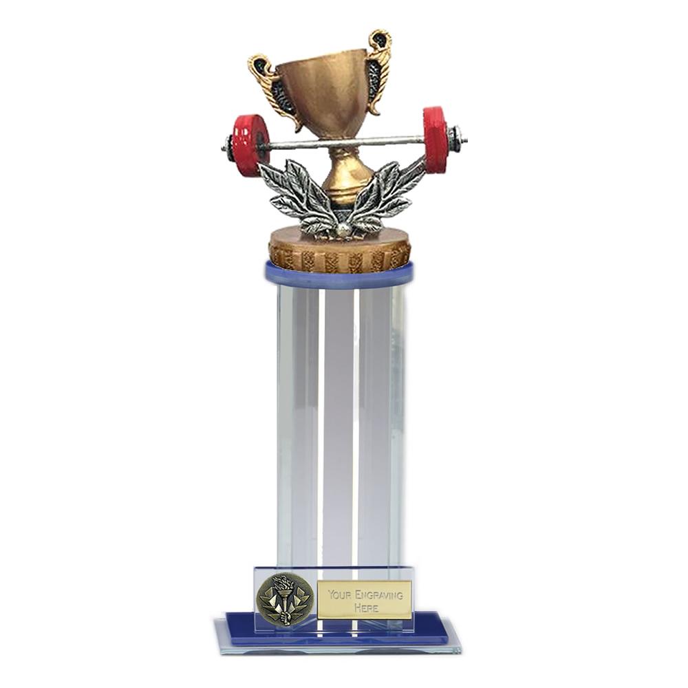24cm Weightlifting Figure On Trafalgar Award