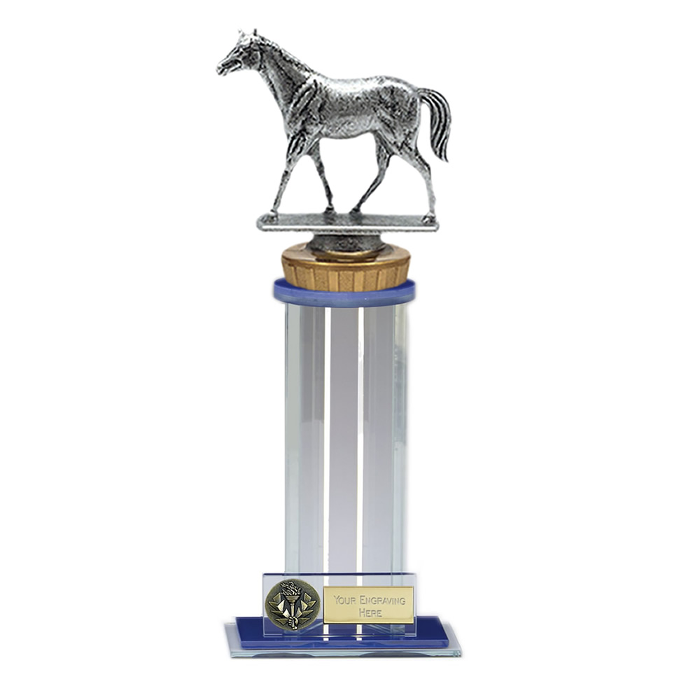 24cm Quarter Horse Figure On Horse Riding Trafalgar Award